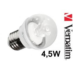 Verbatim LED žárovka Mini Globe 4,5W E27 2700K
