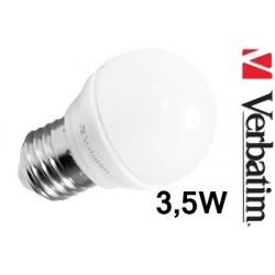 Verbatim LED žárovka Mini Globe 4,5W E27 2700K mléčná