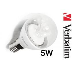 Verbatim LED žárovka LED Mini Globe 5,5W E14 2700K čirá