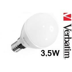 Verbatim LED žárovka LED Mini Globe 3,5W E14 2700K mléčná