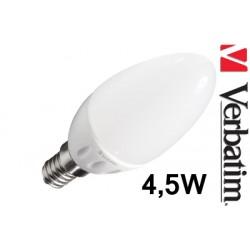 Verbatim LED žárovka 4,5W E14 2700K mléčná