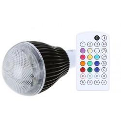Music RGB LED žárovka GU10 9W RGB s dálkovým ovladačem