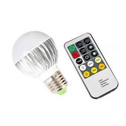 LED žárovka E27 9W se změnou teploty bílé s dálkovým ovladačem