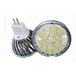 LED žárovka MR16 3W 12V,20 LED 5050SMD, 6000-6500K
