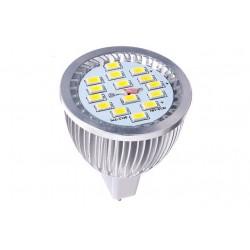LED žárovka MR16 6,5W,15 LED 5630SMD